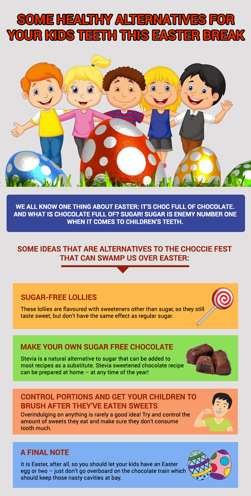 Some Healthy Alternatives for Your Kids Teeth This Easter Break