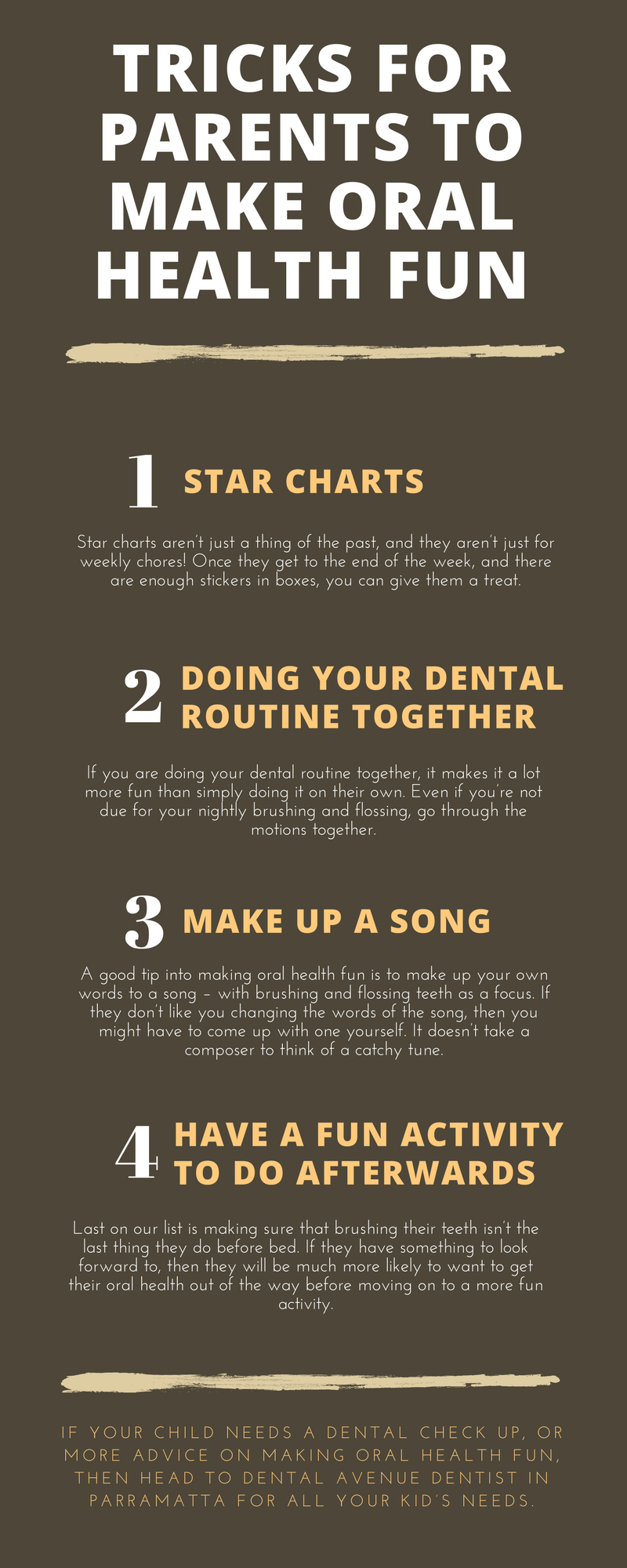 Tricks for Parents to Use in Making Oral Health Fun